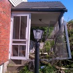 Porch right after tornado